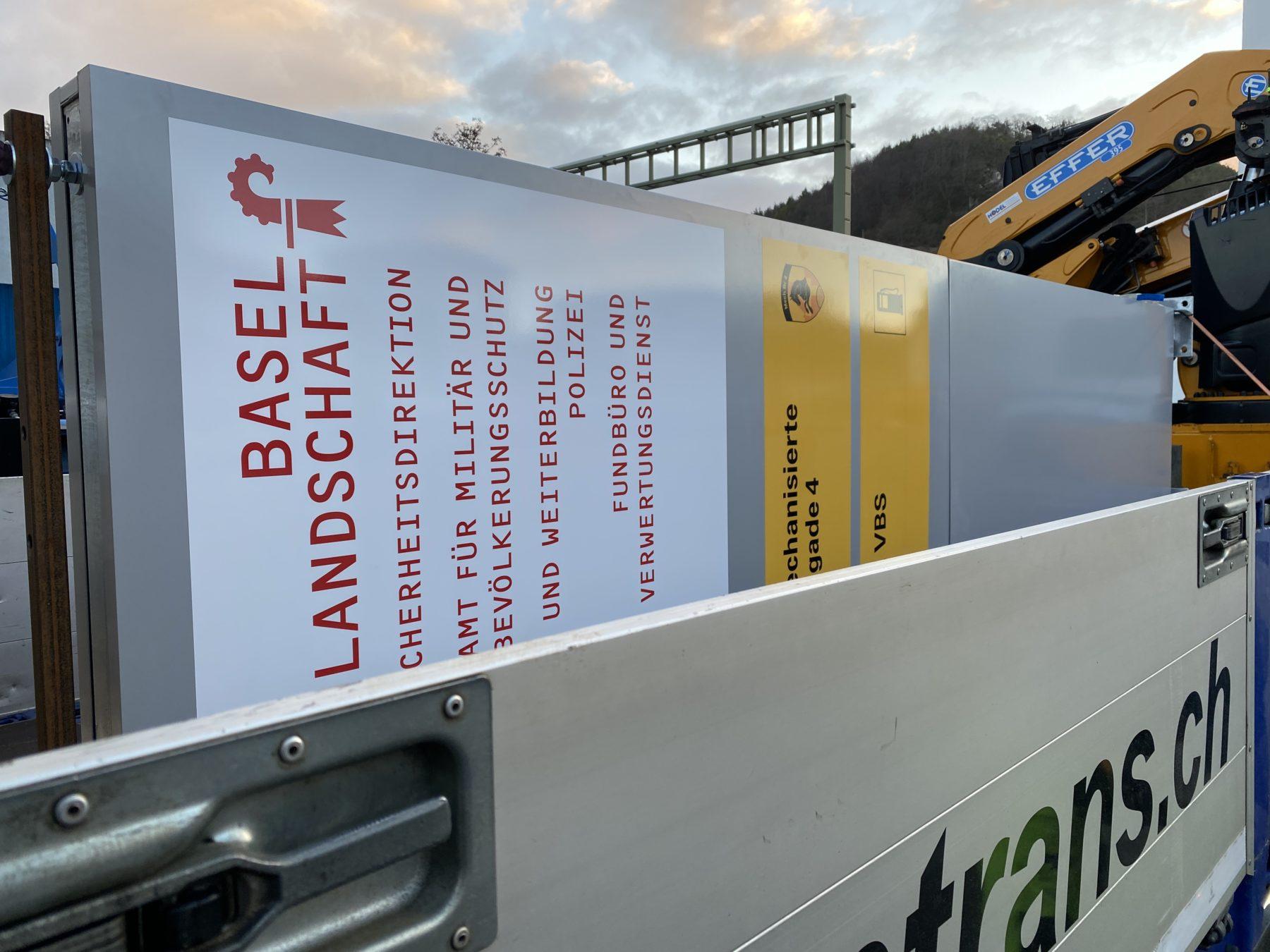 Werbestele   JOST Beschriftungen Liestal